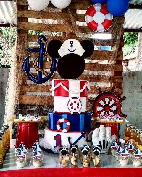 #centerpieces #centrodemesa #mickeymarinero #mickeyparty #mickey #sailormickey…