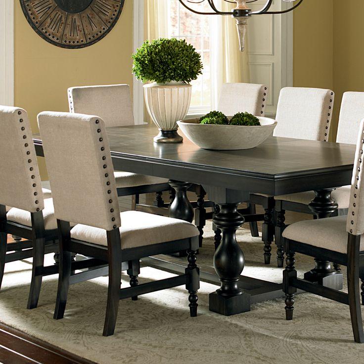 Steve Silver Leona Rectangular Dining Table In Dark Hand Rubbed