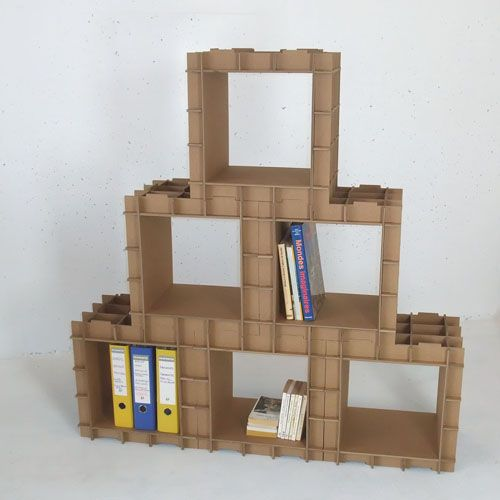29 best images about diy cardboard storage on pinterest for Diy modular bookcase