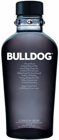 Bulldog Gin:   Es una ginebra ultra-premium que se fabrica en Londres. Es delicada y armoniosa que contiene ingredientes de los cuatro continentes. (20,00€)