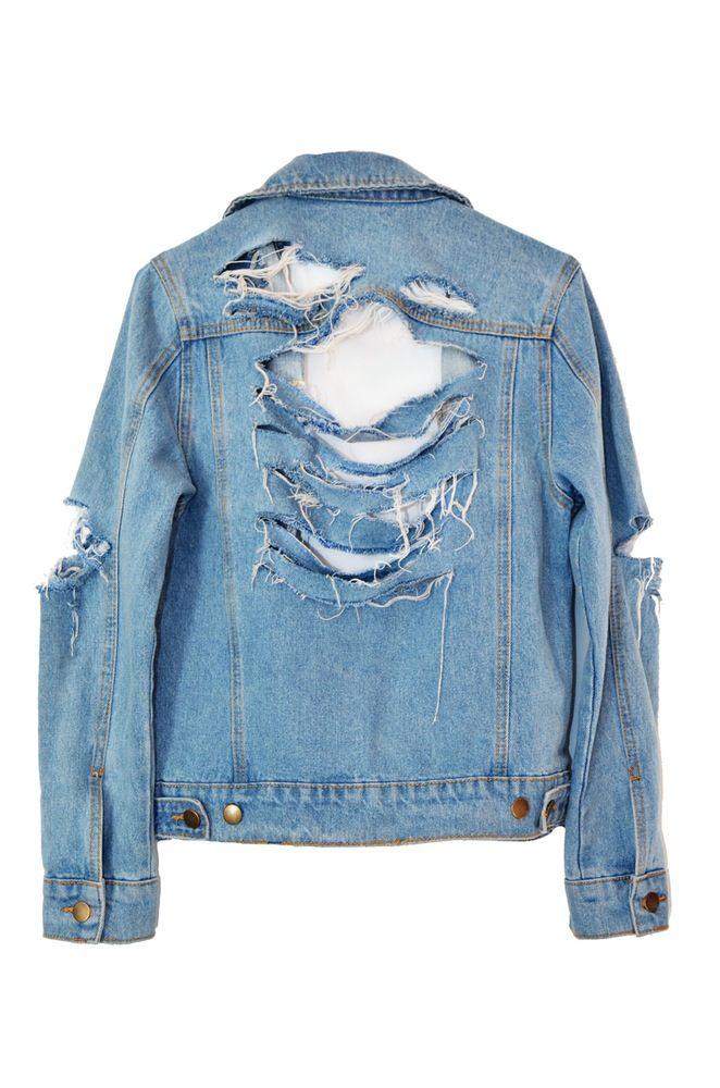 How To Make Your Own Mega Shredded Denim Jacket Styles