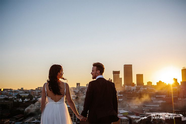 Judith Belle Doubell Adventure Stories Wedding Photography Maboneng Bjala Jeppestown Johannesburg Rooftop Boho Geometric City