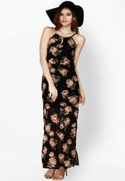 Faballey Black Printed Dress Online Shopping Store