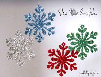DIY Glitter Snowflake Ornaments - bjl