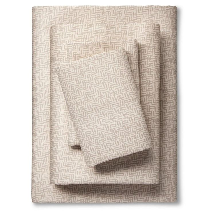 Sheet Set (Twin) Crosshatch Gray 300 Thread Count - Nate Berkus, Grey
