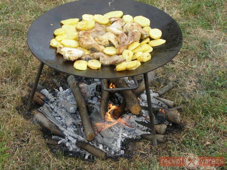 Csirke falatok grillezve