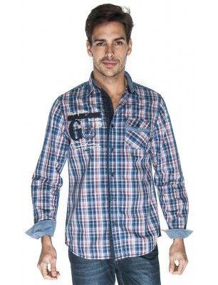 Giorgio di mare camisa cuadros | red blue