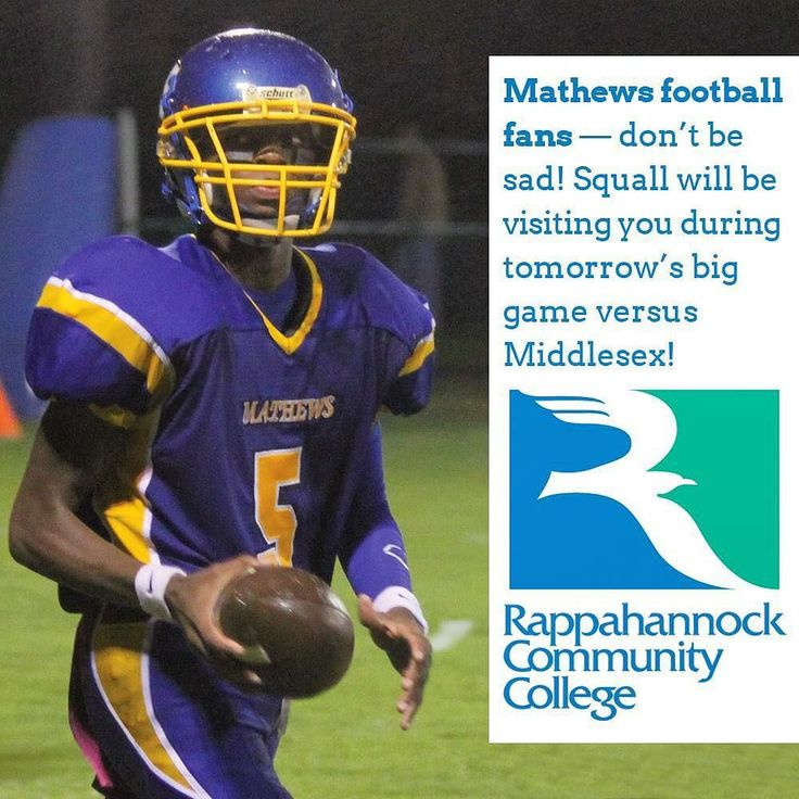 Mathews High School football fans  dont be sad! Squall will be visiting you during tomorrows big game versus Middlesex! #football #mathewsva #mathews #bluedevils #chargers #middlesex #midpenva #middlepeninsula #rappahannock #community #college #comm_college