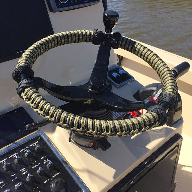 http://www.skifflife.com/files/2015/11/boat-wheel-rope-9.jpg - Custom Wheel Rope for Any Boat - http://www.skifflife.com/1390186/custom-wheel-rope-for-any-boat/ - Richard Traugott with SeaSucker out of Sarasota, Fl also does custom steering wheel rope work for any boat. This looks amazing on any wheel and also help with a firm grip and that scalding heat from the wheel baking in the sun.  There are tons of colors and two-tone designs available and with 8 y...