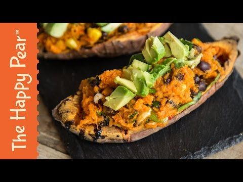 Mexican Stuffed Sweet Potato Skins | The Happy Pear