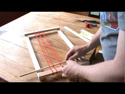 How to weave with a simple frame loom - YouTube