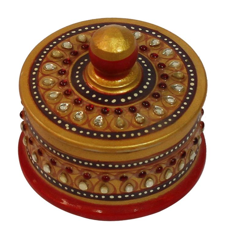 Bulk Wholesale Round-Shaped Colorful Jewelry box / Trinket Box with a Top Lid – Handmade in Marble – Decorative Storage Boxes