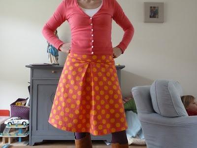 a-lijn rok met stolpplooi
