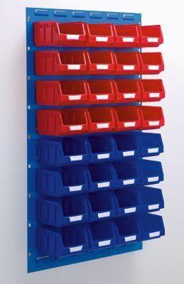 Jeu de bacs à bec - pour 2 panneaux h x l 480 x 500 mm 16 rouges (1 l) + 16 bleus (1 l) - Bac Bac de stockage Bac à bec Bac à vis Bacs Bacs de stockage Bacs à bec Bacs à vis Conteneur de stockage à bec Conteneur à bec Conteneur à vis Conteneurs à vis: Amazon.fr: Bricolage