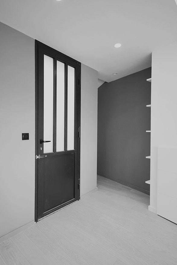 Porte d'entrée en serrurerie. www.atelierjoseph.fr