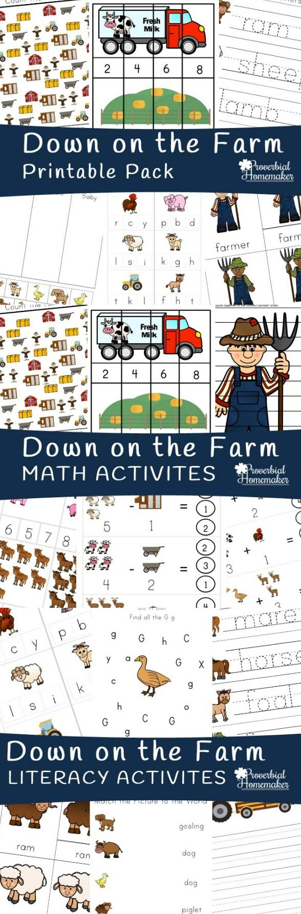 Download this farm printable pack FREE for subscribers! LOVE the fun activities…