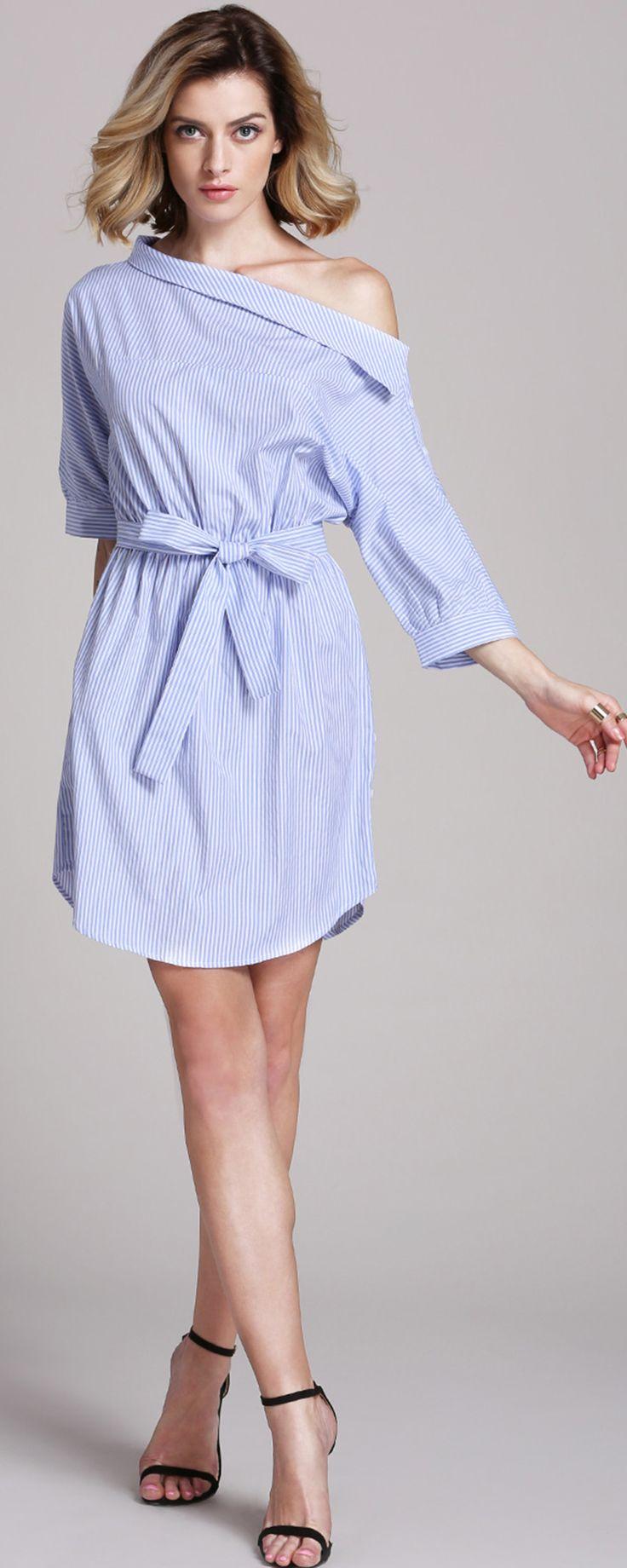 Die besten 17 ideen zu schulterfreies kleid auf pinterest for Shein frauen mode