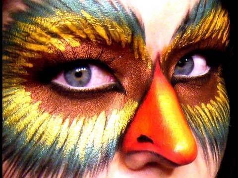 maquillage de pajaro