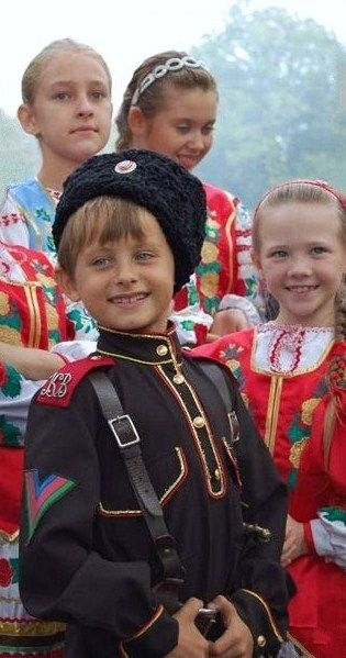 Children are dressed in the traditional costumes of Russian Cossacks. #cute #kids #Russian #folk