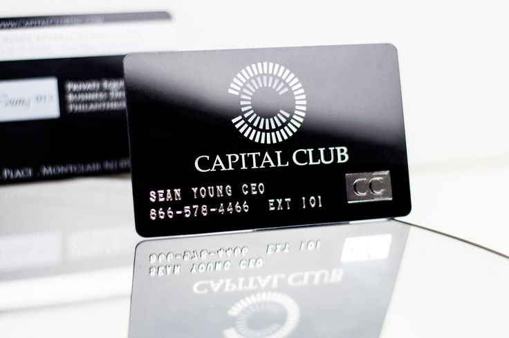 high end business cards with embossed numbers and letters - faux credit card