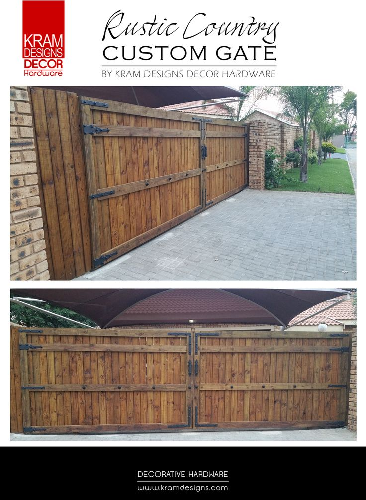 Add that extra character to your homes entrance gates with Kram Designs Decor Hardware.