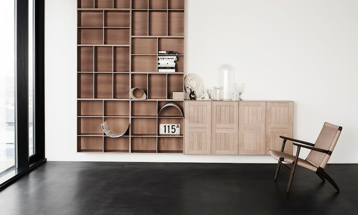 Mogens Koch Bookcase Cabinat, CH25 Lounge chair  Danish Interior Design Budapest