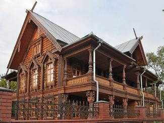 Деревянные бревенчатые дома в русском стиле   Эко-Тех