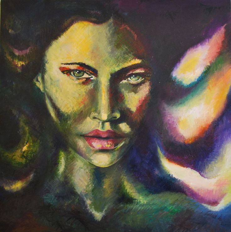 Wedad A. Oil on canvas #art