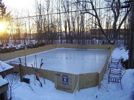 Backyard ice rink-how cool would this be?! one day..