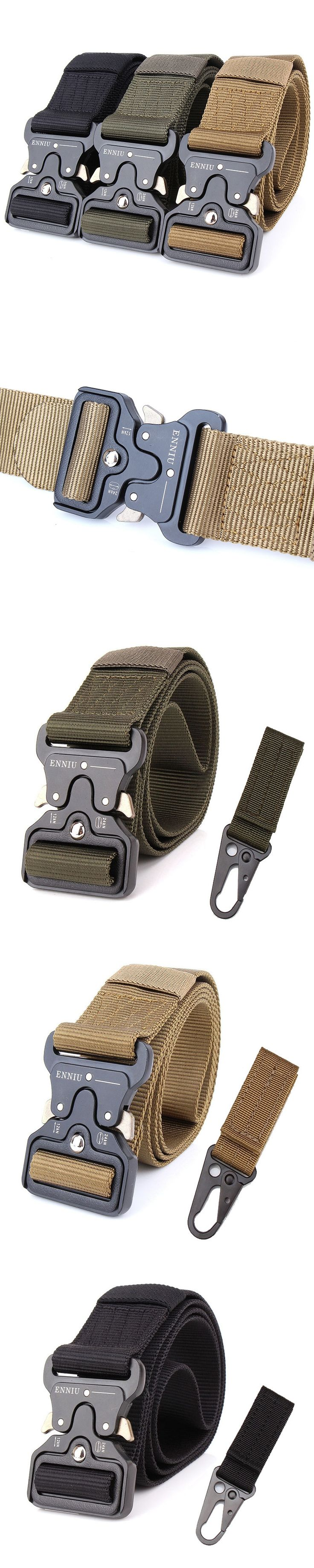Tactical Belt Military Automatic Buckle Belt Survival Waistbelt Molle Nylon BelMens SWAT Police Army Combat Adjust Tactical Gear