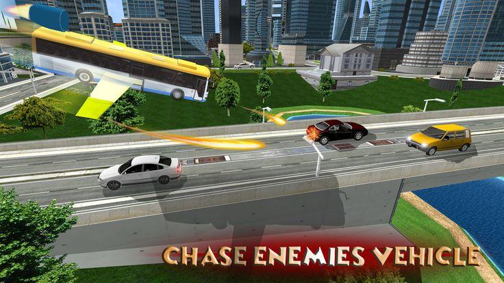 Futuristic Flying Bus Sim 3D- screenshot
