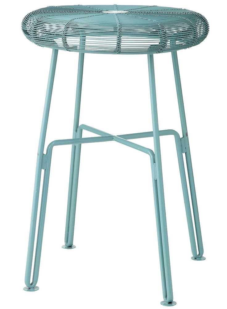 HEMA metal bench light petrol blue