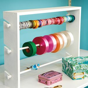 DIY::Ribbon organiser