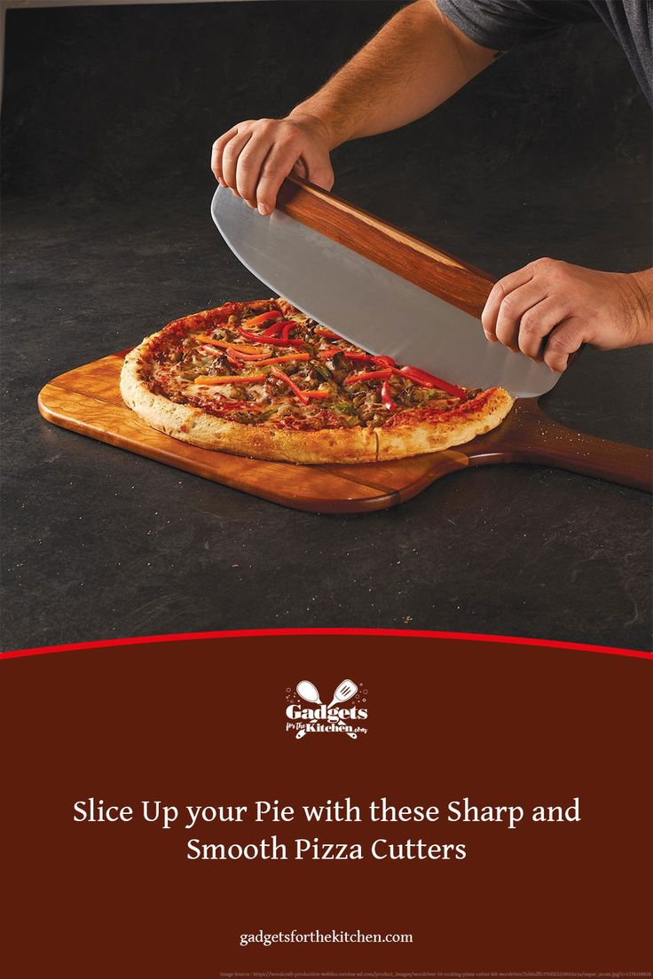 Slice up your pie with these sharp and smooth Pizza Cutters. #gadgetsforthekitchen #kitchengadgets #pizza #pizzacutters #bestpizzacutters #pizzalovers #food #foodporn #pizzatime
