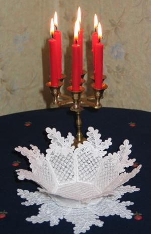 Embroidering and Assembling a Free Standing Lace Bowl - Advanced Embroidery Designs