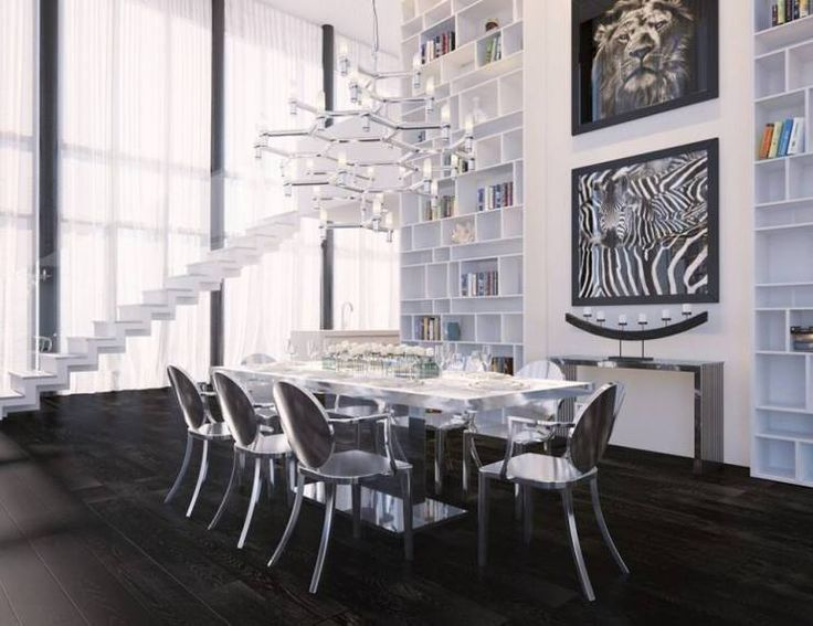 Silver And White Modern Dining Room / Chandelier / / Modani / Affordable  Contemporary Furniture And Part 53
