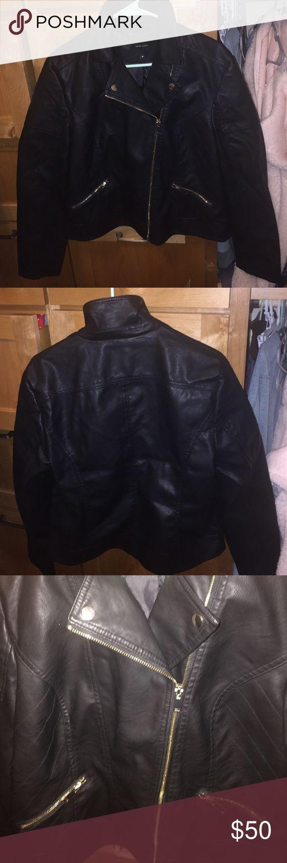 Leather jacket hoi an - Black Faux Leather Jacket