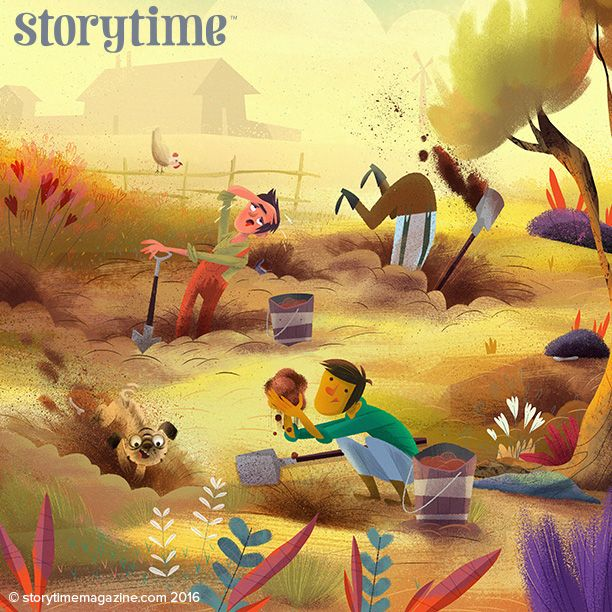 Three brothers find treasure in the most unexpected of places in Storytime Issue 26's fable. Art by John Joven (http://www.johnjoven.com) ~ STORYTIMEMAGAZINE.COM