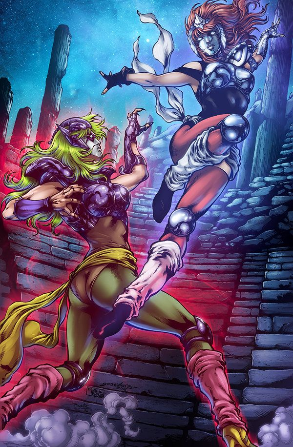 Saint Seiya - Shina Vs Marin by diabolumberto