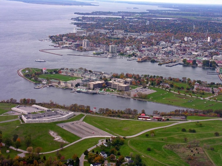 Fort Henry (built backwards by mistake... the designer committed suicide afterwards), the Royal Military College, and the Kingston, Ontario waterfront.