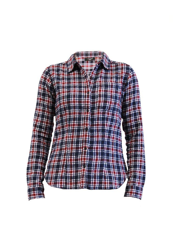 Trendy #fashion #checked blouse