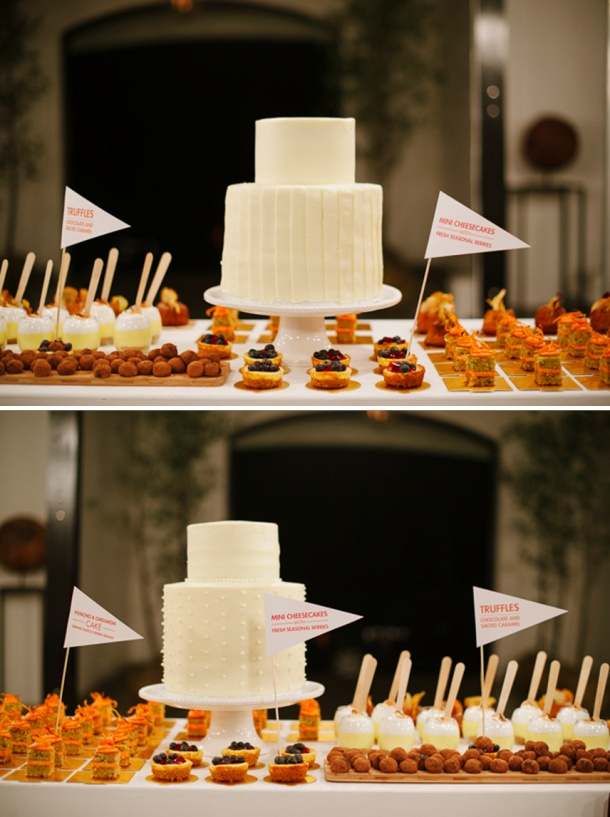 Birdcage Tea Bar - Red velvet wedding cake with cream cheese frosting, apple cinnamon maple cakes, cheesecakes with seasonal berries, pistachio cakes with orange frosting, chocolate truffles and lemon meringues.
