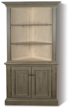 Country Classical Painted Furniture Heritage Corner Cabinet