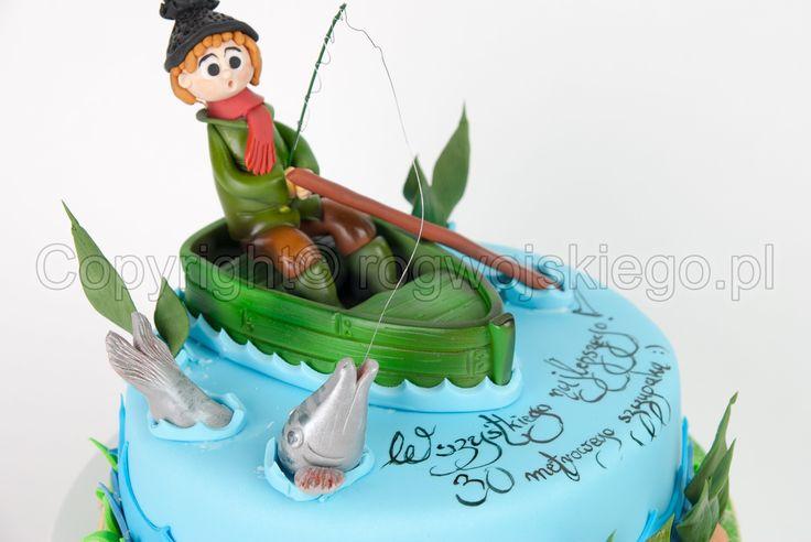 fisherman cake, tort dla wędkarza, tort z wędkarzem, www.rogwojskiego.pl