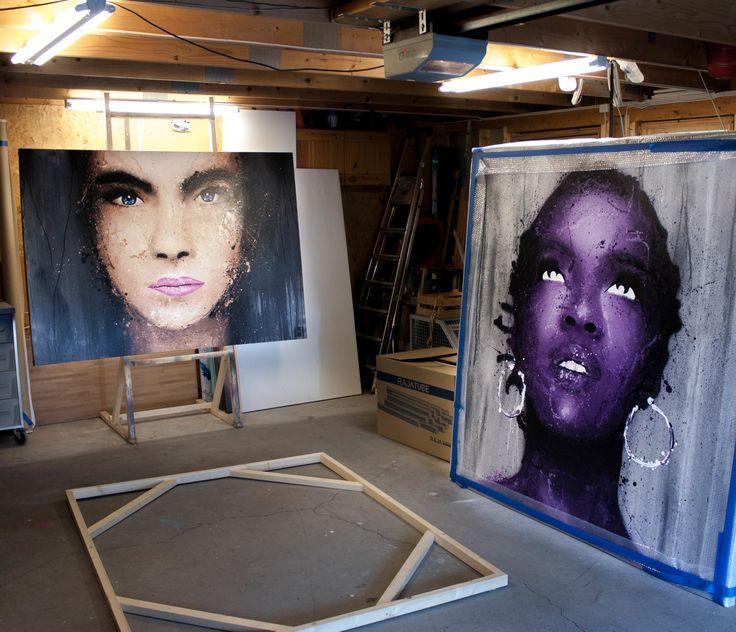 Portrait, Art, Contemporary.  Artist: Halseth