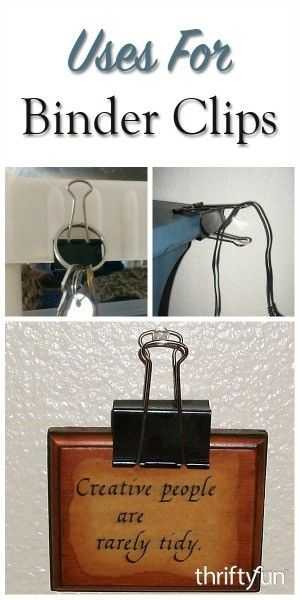 Uses For Binder Clips Organizing Pinterest Binder clips, Home