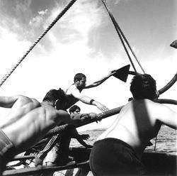 "FOTO: GIORGIA FIORIO: ""Tonnarotti"", at the ""tonnara"" of Carloforte, San Pietro island (Sardinia), Italy, May 1999."