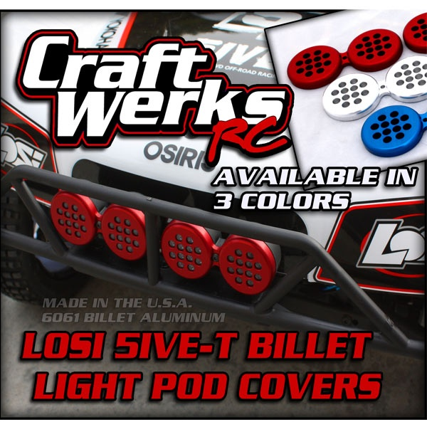 CraftWerks-RC's Billet Light Pod Covers for the Losi 5ive-T