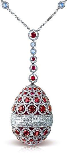 Faberge Ruby Diamond Necklace