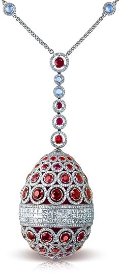 Faberge Ruby & Diamond Necklace @dailybasics ♥